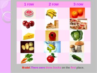 Model:There were three books on the first place. 1 row 2 row 3 row