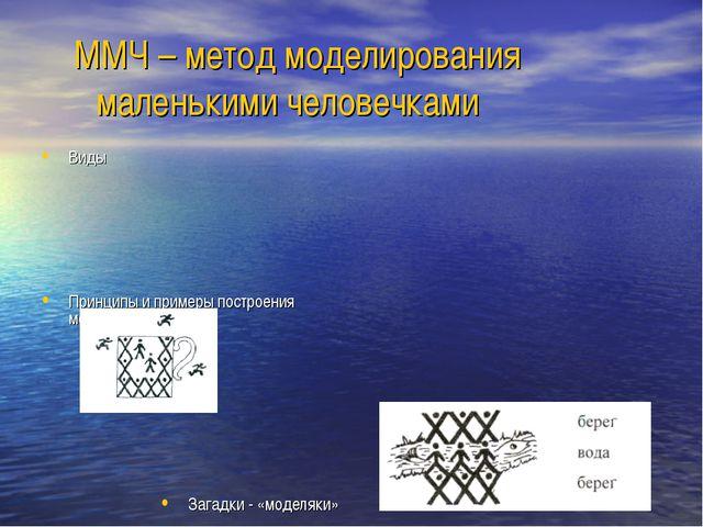ММЧ – метод моделирования маленькими человечками Виды Принципы и примеры пос...