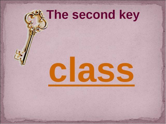 The second key class
