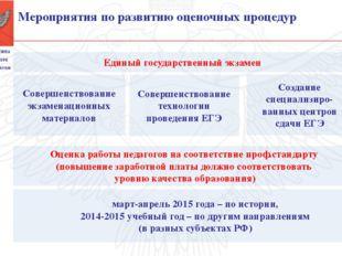 Единый государственный экзамен Совершенствование экзаменационных материалов