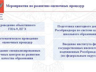 Введение института фед. государственных инспекторов, подчиненных Рособрнадзо