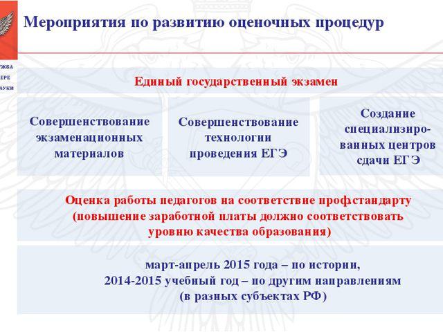 Единый государственный экзамен Совершенствование экзаменационных материалов...