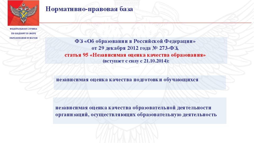 ФЗ «Об образовании в Российской Федерации» от 29 декабря 2012 года № 273-ФЗ,...