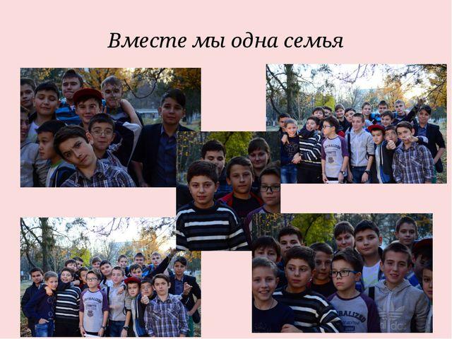 Вместе мы одна семья