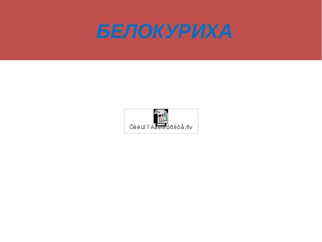 БЕЛОКУРИХА