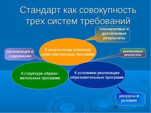 организация и содержание планируемые и достигаемые результаты ресурсы и усло