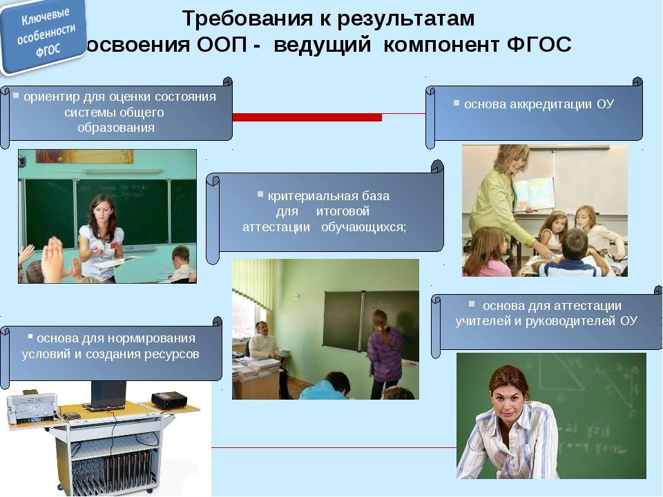 ориентир для оценки состояния системы общего образования Требования к резуль...
