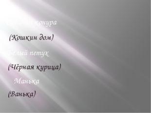 Собачья конура Белый петух Манька (Кошкин дом) (Чёрная курица) (Ванька)