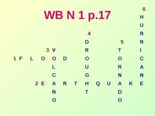 WB N 1 p.17 6 H U 4R D