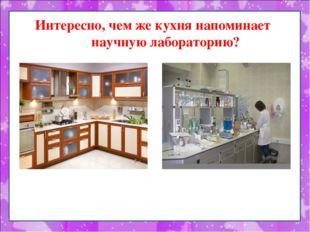 Интересно, чем же кухня напоминает научную лабораторию?