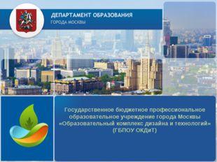 Государственное бюджетное профессиональное образовательное учреждение города