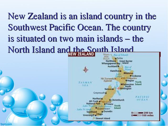 New Zealand is an island country in the Southwest Pacific Ocean. The country...