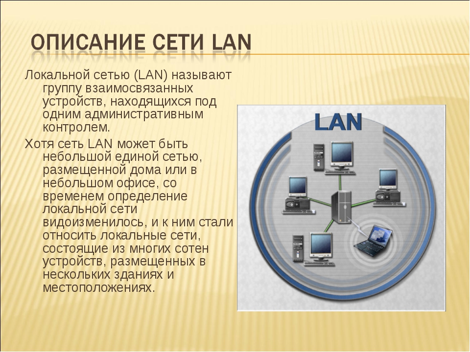 Локальной сетью (LAN) называют группу взаимосвязанных устройств, находящихся...