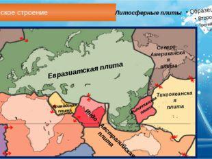 Геологическое строение Литосферные плиты Евразиатская плита Аравийская плита