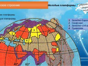 Геологическое строение Молодые платформы Западно-Европейская Скифская Западно