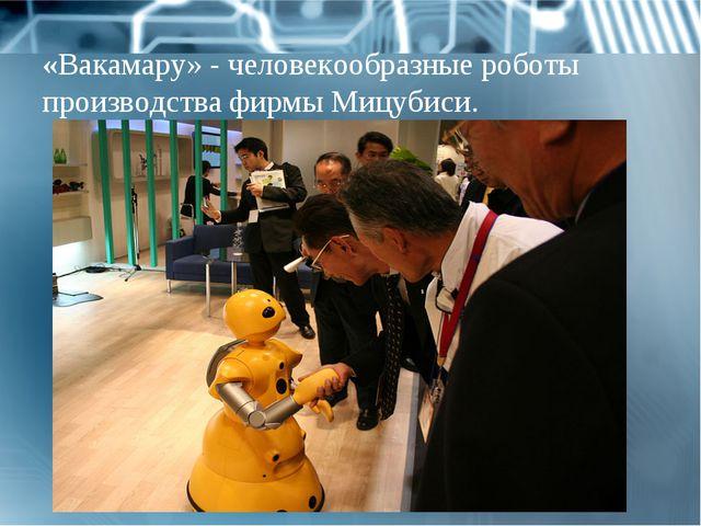 «Вакамару» - человекообразные роботы производства фирмы Мицубиси.
