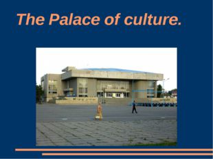 The Palace of culture.