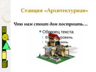 Станция «Архитектурная» Что нам стоит дом построить…   D ●