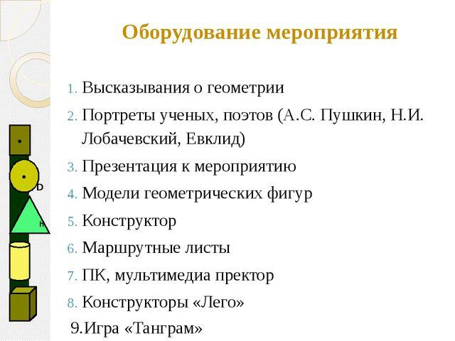 Высказывания о геометрии Портреты ученых, поэтов (А.С. Пушкин, Н.И. Лобачевск...