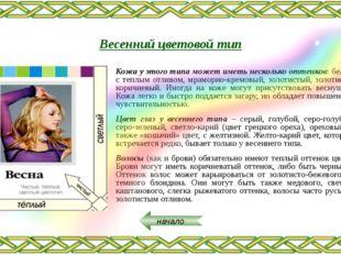 СЕГОДНЯ В НОМЕРЕ КРАСОТА Тема: «Макияж для женщин весеннего типа» СОВЕТ от М