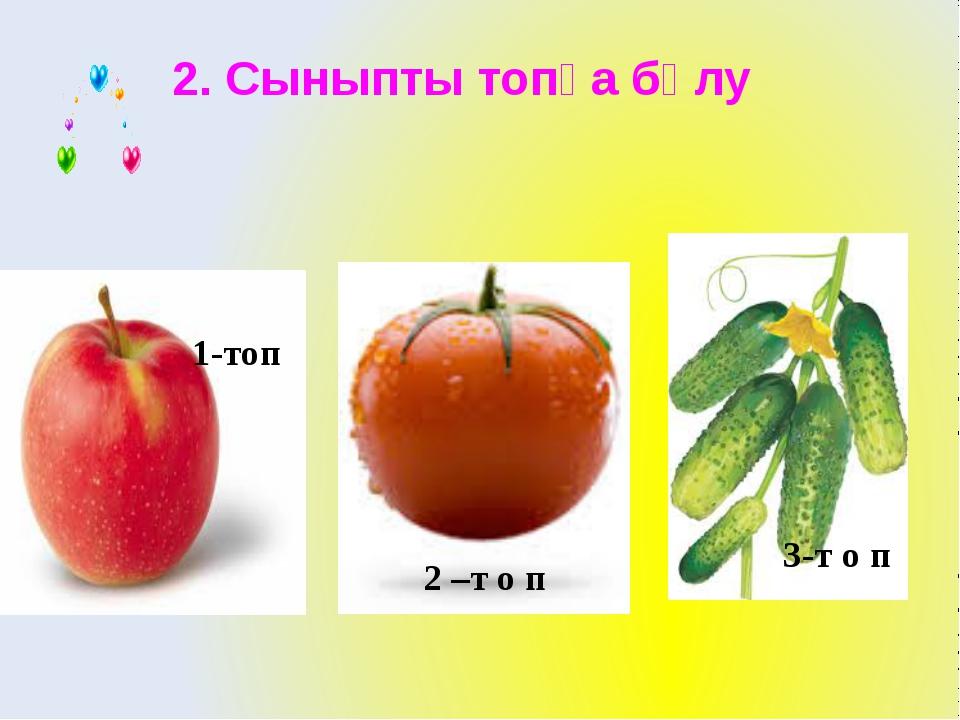 2. Сыныпты топқа бөлу 1-топ 2 –т о п 3-т о п