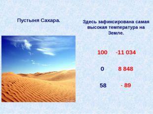 Пустыня Сахара. Здесь зафиксирована самая высокая температура на Земле. 58 10