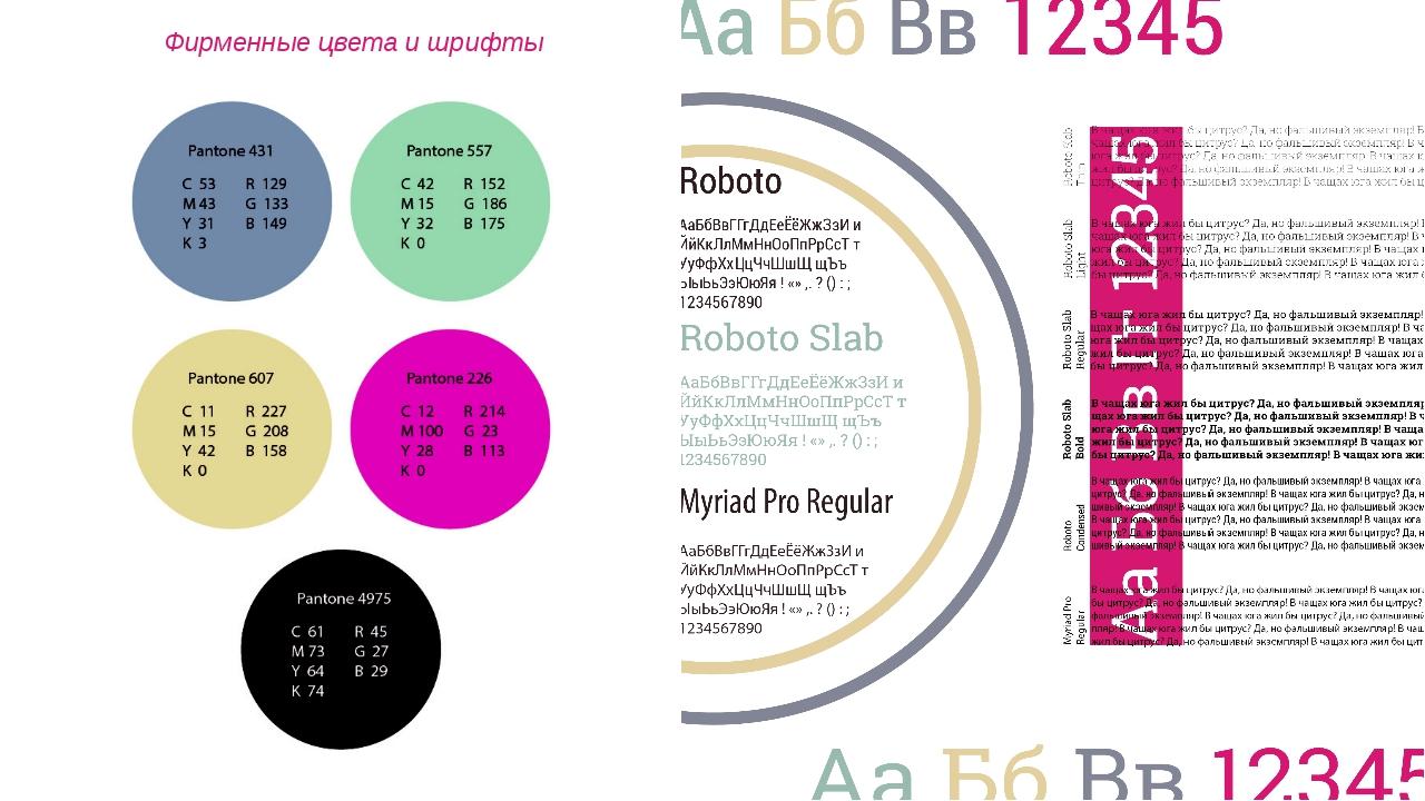 Фирменные цвета и шрифты