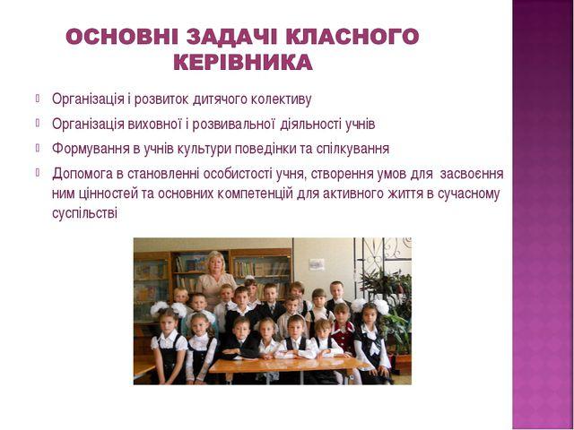Організація і розвиток дитячого колективу Організація виховної і розвивально...