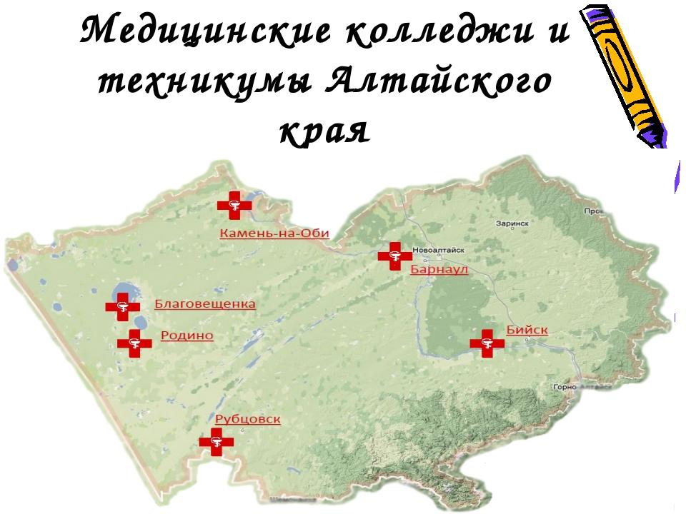 Медицинские колледжи и техникумы Алтайского края