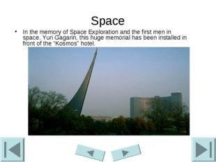 Space In the memory of Space Exploration and the first men in space, Yuri Gag