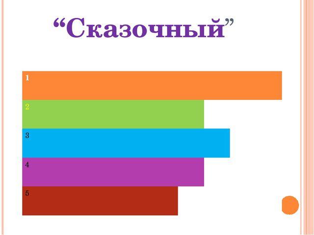 """""""Сказочный"""" 1 2 3 4 5"""