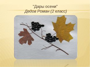 """Дары осени"" Дедов Роман (2 класс)"