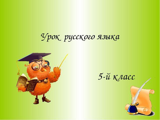 Урок русского языка 5-й класс