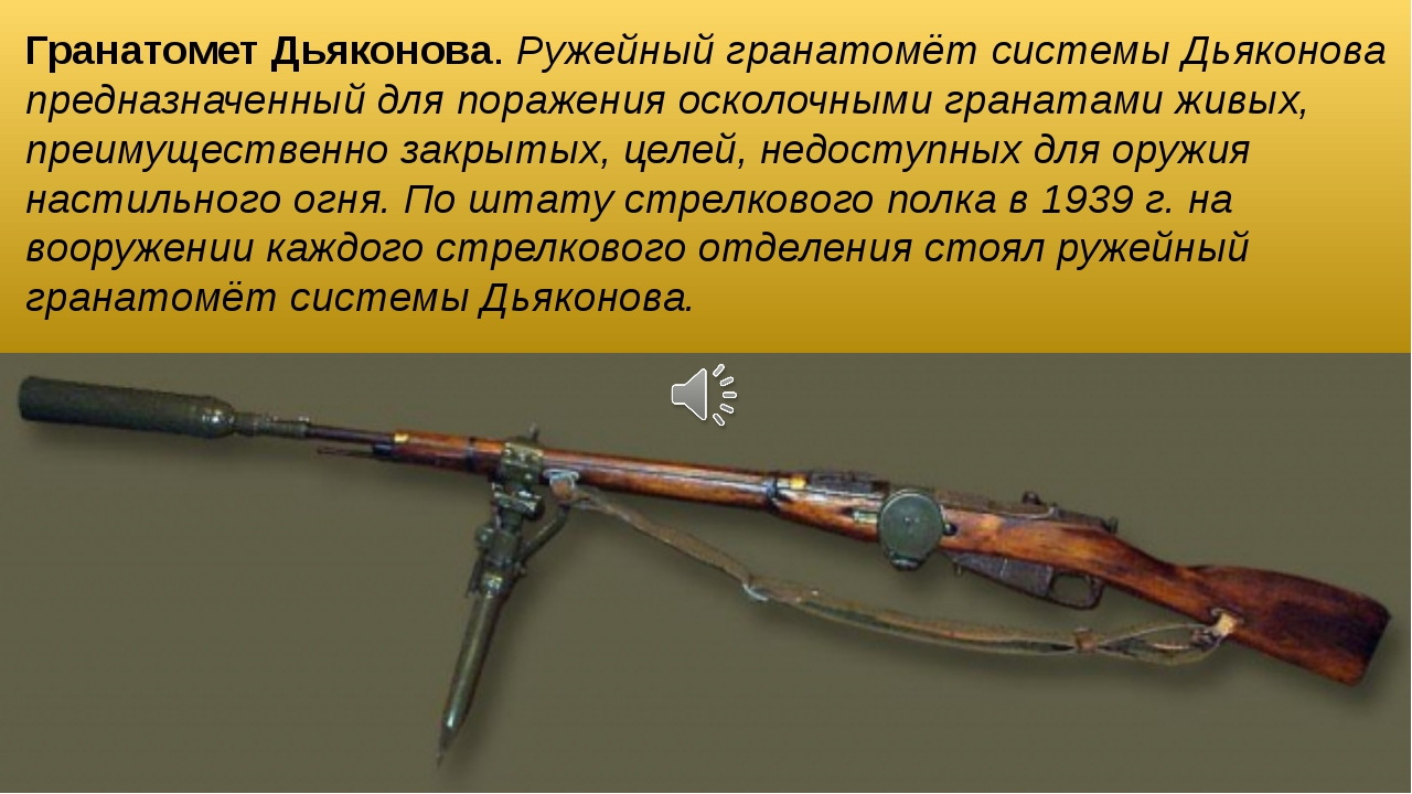 Гранатомет Дьяконова. Ружейный гранатомёт системы Дьяконова предназначенный д...