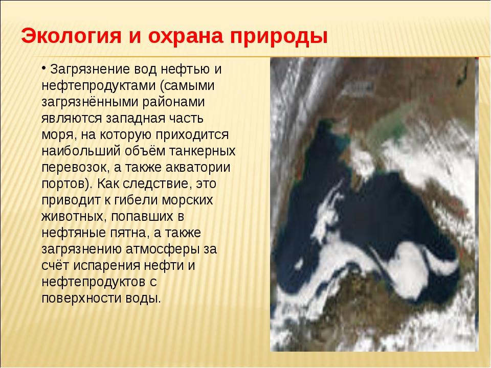 Экология и охрана природы Загрязнение вод нефтью и нефтепродуктами (самыми за...