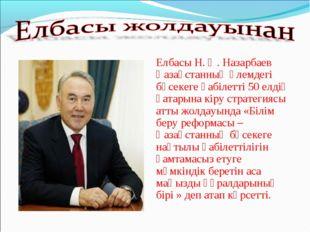 Елбасы Н. Ә. Назарбаев Қазақстанның әлемдегі бәсекеге қабілетті 50 елдің қа