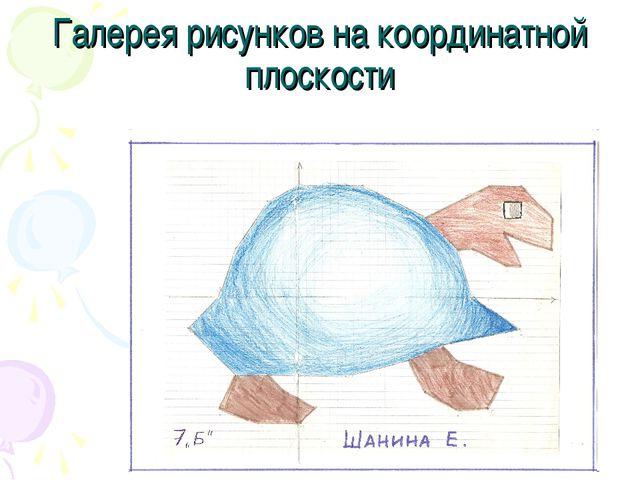 Галерея рисунков на координатной плоскости