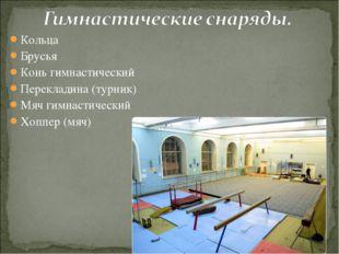 Кольца Брусья Конь гимнастический Перекладина (турник) Мяч гимнастический Хоп