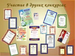 Участие в других конкурсах