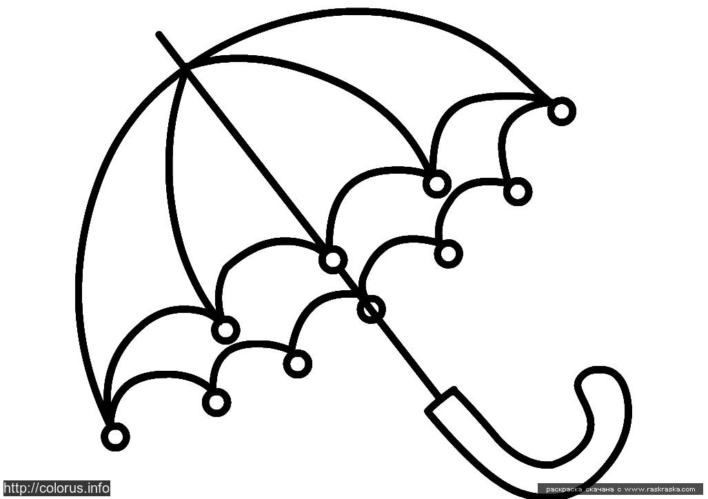 Раскраска Зонтик Раскраски для малышей. Простые раскраски. р…