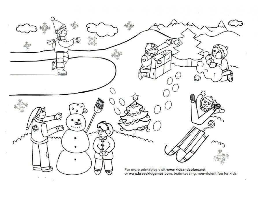 раскраски Зима , раскраска Зима , раскраски для печати Зима