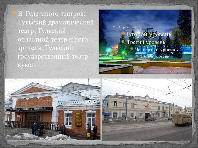 В Туле много театров: Тульский драматический театр, Тульский областной театр...