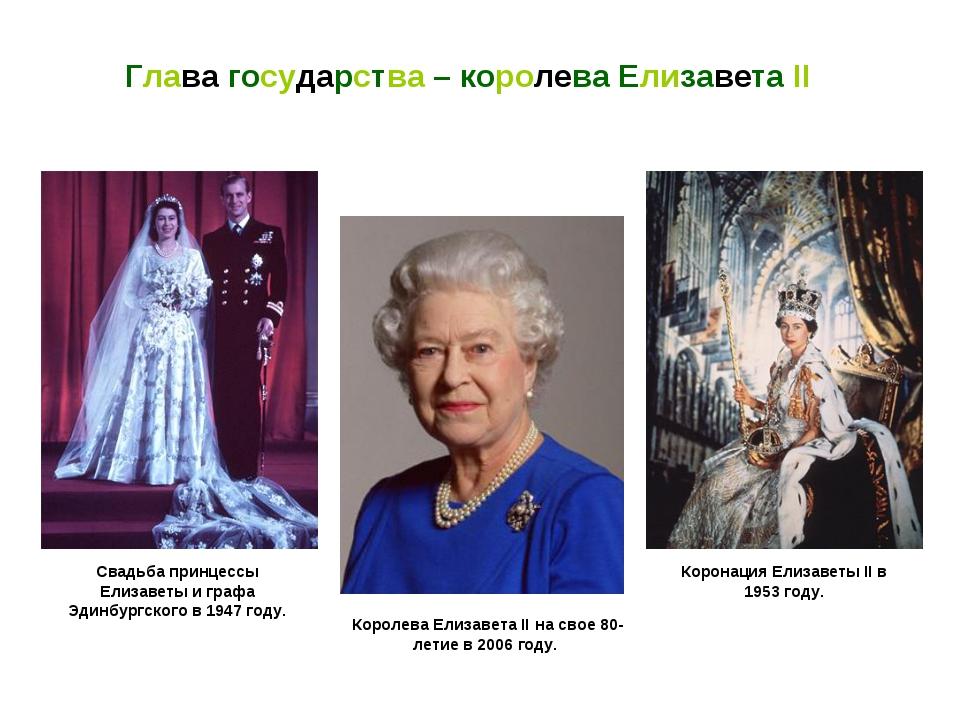 Коронация Елизаветы II в 1953 году. Глава государства – королева Елизавета II...