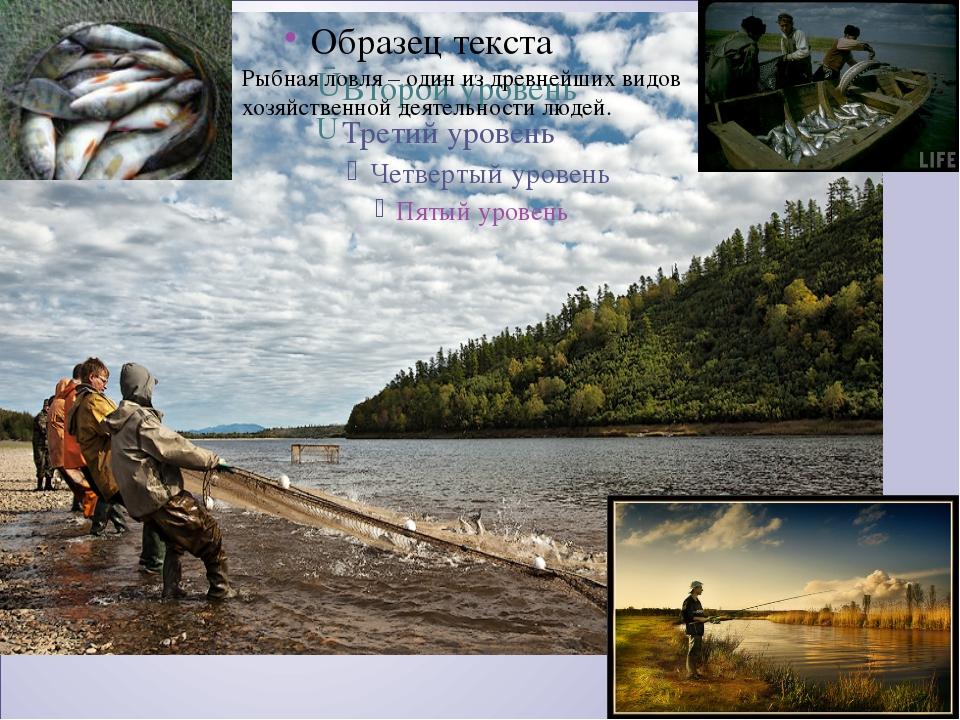 Рыбная ловля – один из древнейших видов хозяйственной деятельности людей.