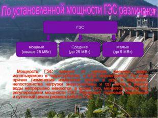 мощные (свыше 25 МВт) Средние (до 25 МВт) Малые (до 5 МВт) ГЭС