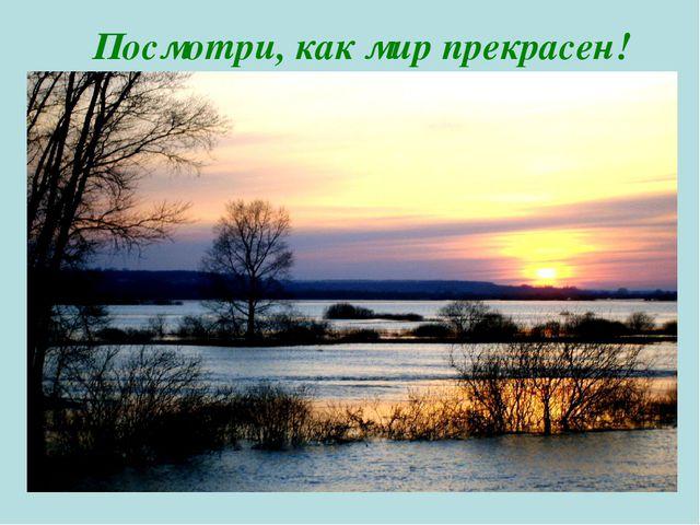 Посмотри, как мир прекрасен!