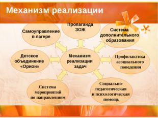 Самоуправление в лагере Пропаганда ЗОЖ Система дополнительного образования Со