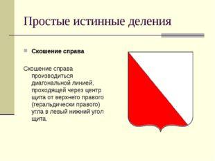 Простые истинные деления Скошение справа Скошение справа производиться диагон