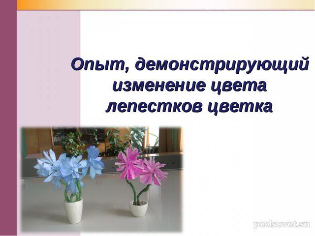 Опыт, демонстрирующий изменение цвета лепестков цветка