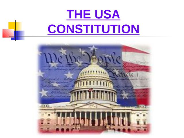 THE USA CONSTITUTION